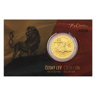 d7e9b7945 Zlatá uncová investiční mince Český lev reverse proof (ČM 2018) číslo 66